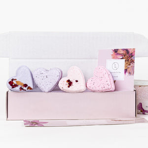 4 heart shaped Shower Steamers Gift Set - Wholesale