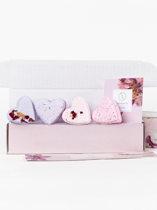4 heart shaped Shower Steamers Gift Set - Wholesale 1