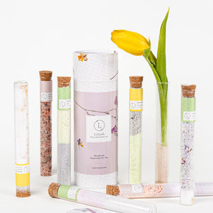 Natural GIFT for your bath in a Tube - Gift set with 7 Glass tubes - wholesale