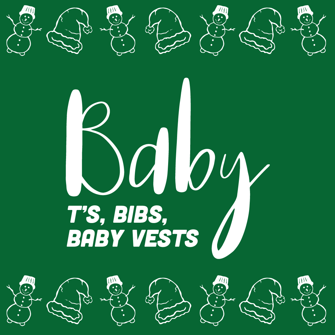Christmas themed baby T-Shirts, bibs and baby vests