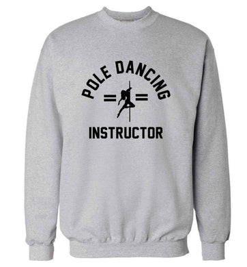 Pole dancing instructor adult's unisex grey sweater 2XL
