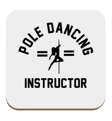 Pole dancing instructor set of four coasters