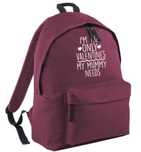 I'm the only valentines my mummy needs black childrens backpack
