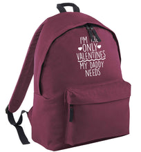 I'm the only valentines my daddy needs black adults backpack