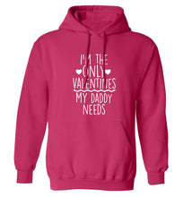 I'm the only valentines my daddy needs adults unisex pink hoodie 2XL