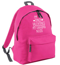 I'm the only valentines my grandma needs pink childrens backpack