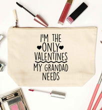 I'm the only valentines my grandad needs natural makeup bag