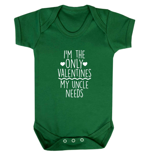 I'm the only valentines my uncle needs baby vest green 18-24 months