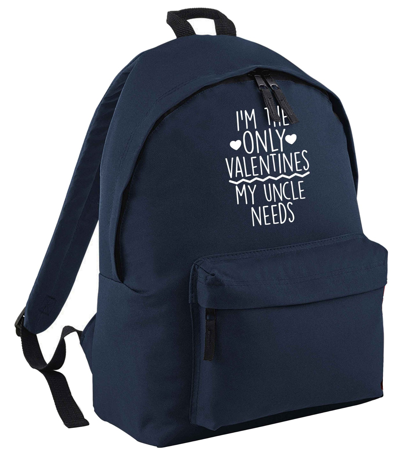 I'm the only valentines my uncle needs navy childrens backpack