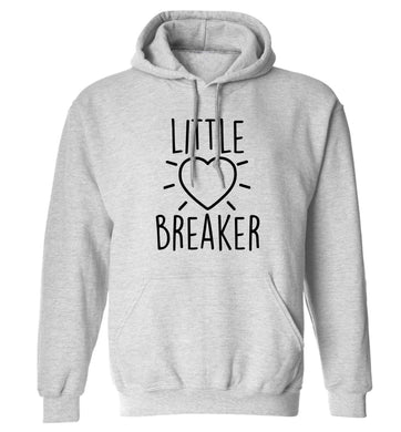 Little heartbreaker adults unisex grey hoodie 2XL