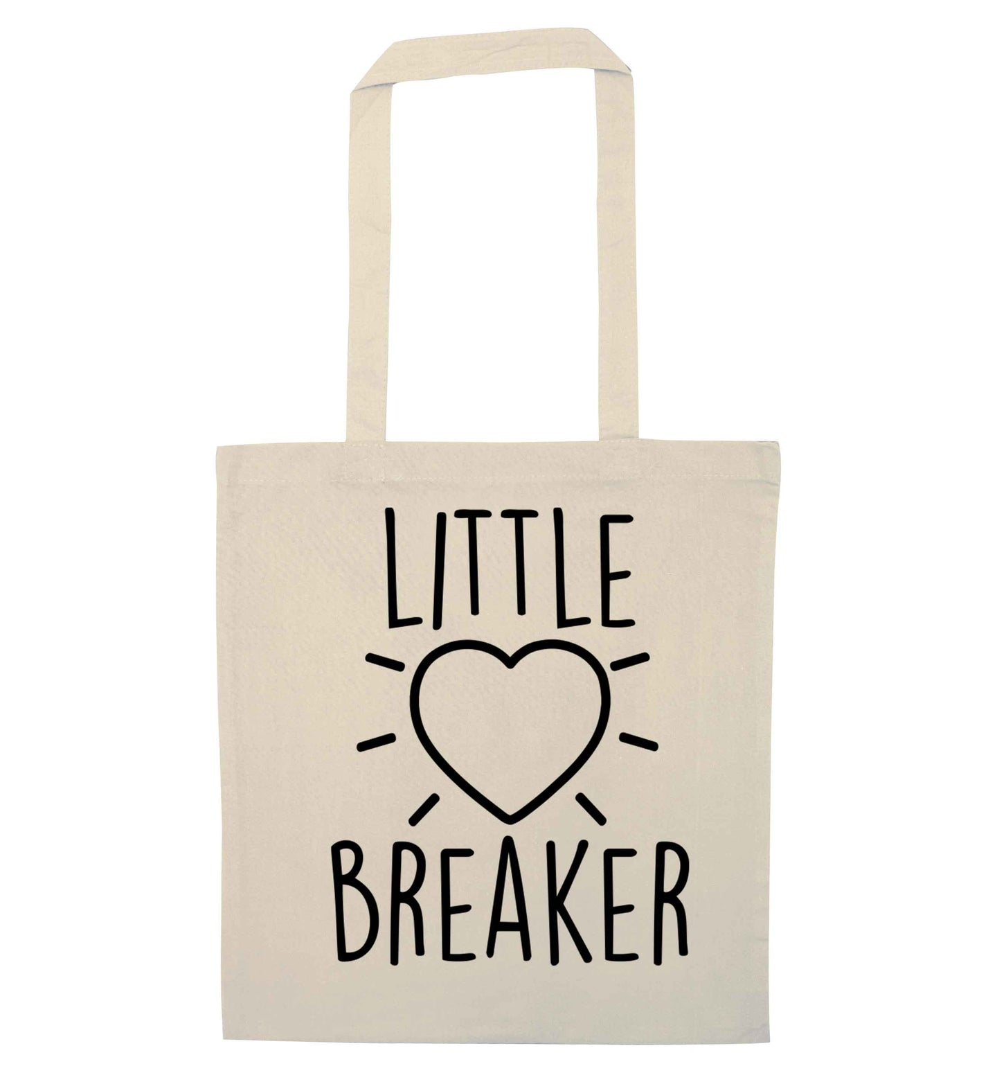 Little heartbreaker natural tote bag