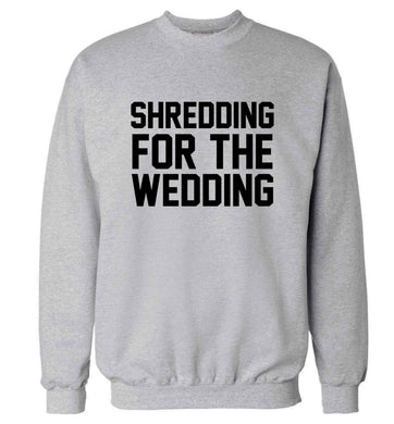 Get motivated and get fit for your big day! Our workout quotes and designs will get you ready to sweat! Perfect for any bride, groom or bridesmaid to be!  adult's unisex grey sweater 2XL