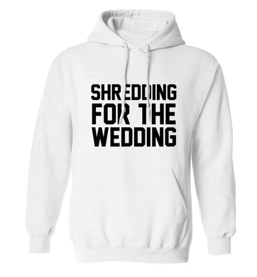 Get motivated and get fit for your big day! Our workout quotes and designs will get you ready to sweat! Perfect for any bride, groom or bridesmaid to be!  adults unisex white hoodie 2XL