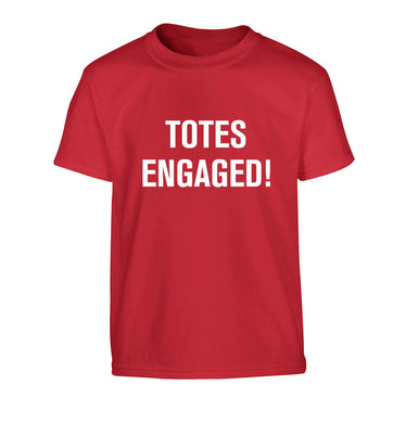 Totes engaged Children's red Tshirt 12-13 Years