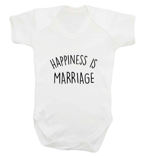 Happiness is marriage baby vest white 18-24 months