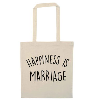 Happiness is wedding planning natural tote bag