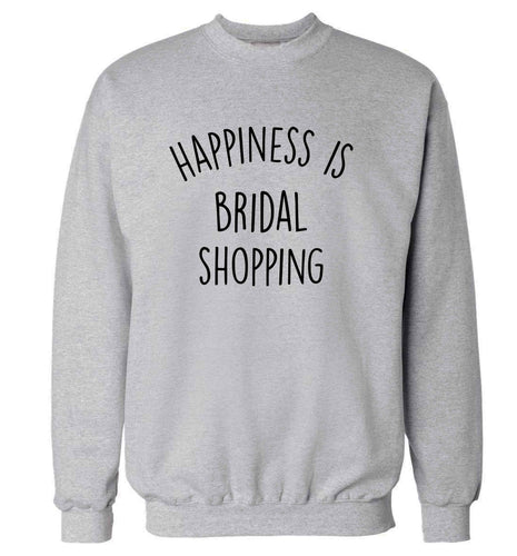 Happiness is bridal shopping adult's unisex grey sweater 2XL