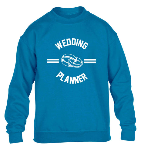 Wedding planner children's blue sweater 12-13 Years