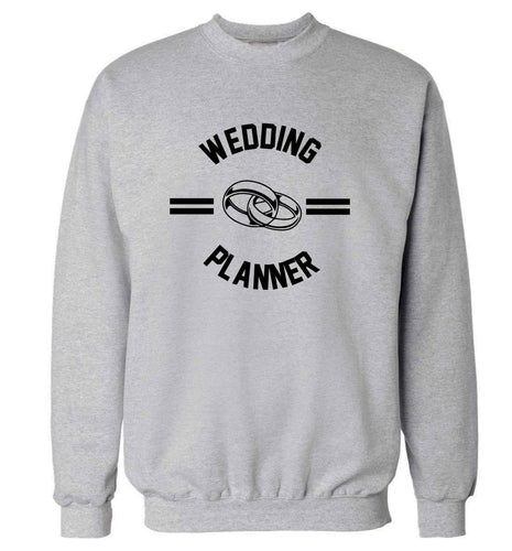 Wedding planner adult's unisex grey sweater 2XL