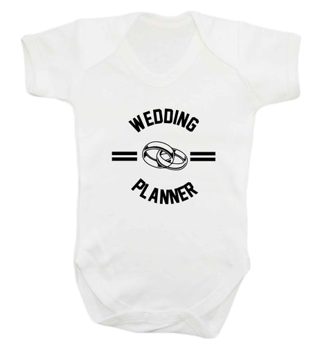 Wedding planner baby vest white 18-24 months
