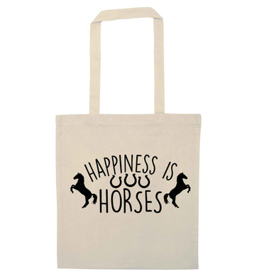 Happiness is horses natural tote bag