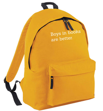 Boys in books are better mustard adults backpack
