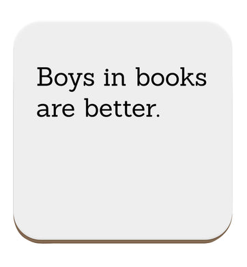 Boys in books are better set of four coasters