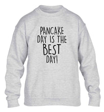 Pancake day is the best day children's grey sweater 12-13 Years