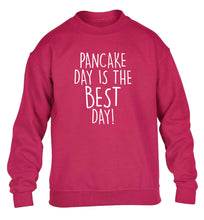 Pancake day is the best day children's pink sweater 12-13 Years