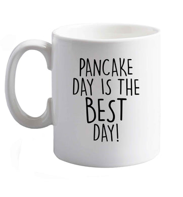 10 oz Pancake Day is the Best Day ceramic mug right handed