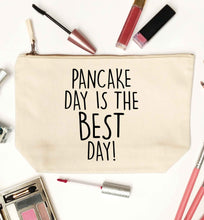 Pancake day is the best day natural makeup bag