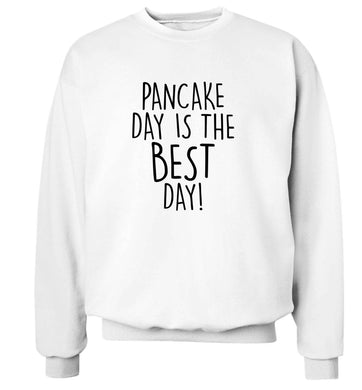 Pancake day is the best day adult's unisex white sweater 2XL