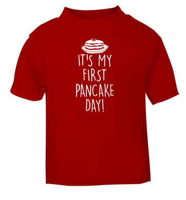 It's my first pancake day red baby toddler Tshirt 2 Years