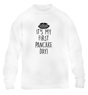 It's my first pancake day children's white sweater 12-13 Years