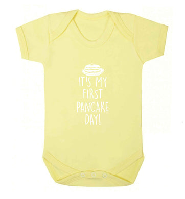 It's my first pancake day baby vest pale yellow 18-24 months