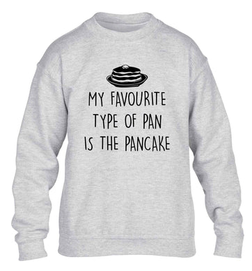My favourite type of pan is the pancake children's grey sweater 12-13 Years