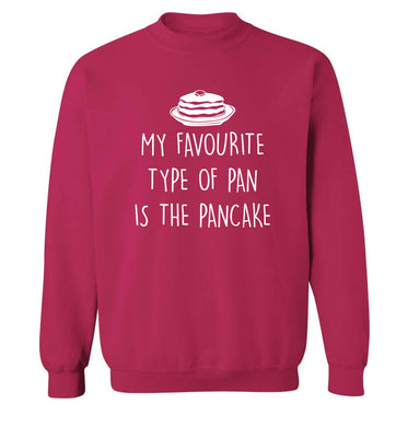 My favourite type of pan is the pancake adult's unisex pink sweater 2XL