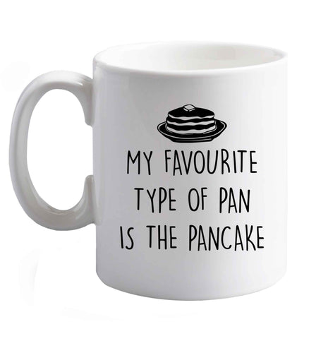 10 oz Favourite Type Pan Pancake ceramic mug right handed