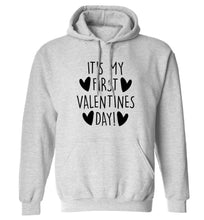 It's my first valentines day! adults unisex grey hoodie 2XL