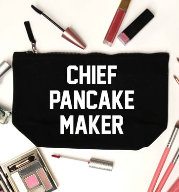 Chief pancake maker black makeup bag