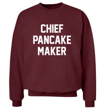 Chief pancake maker adult's unisex maroon sweater 2XL