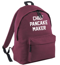 Chief pancake maker black childrens backpack
