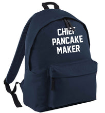 Chief pancake maker navy childrens backpack