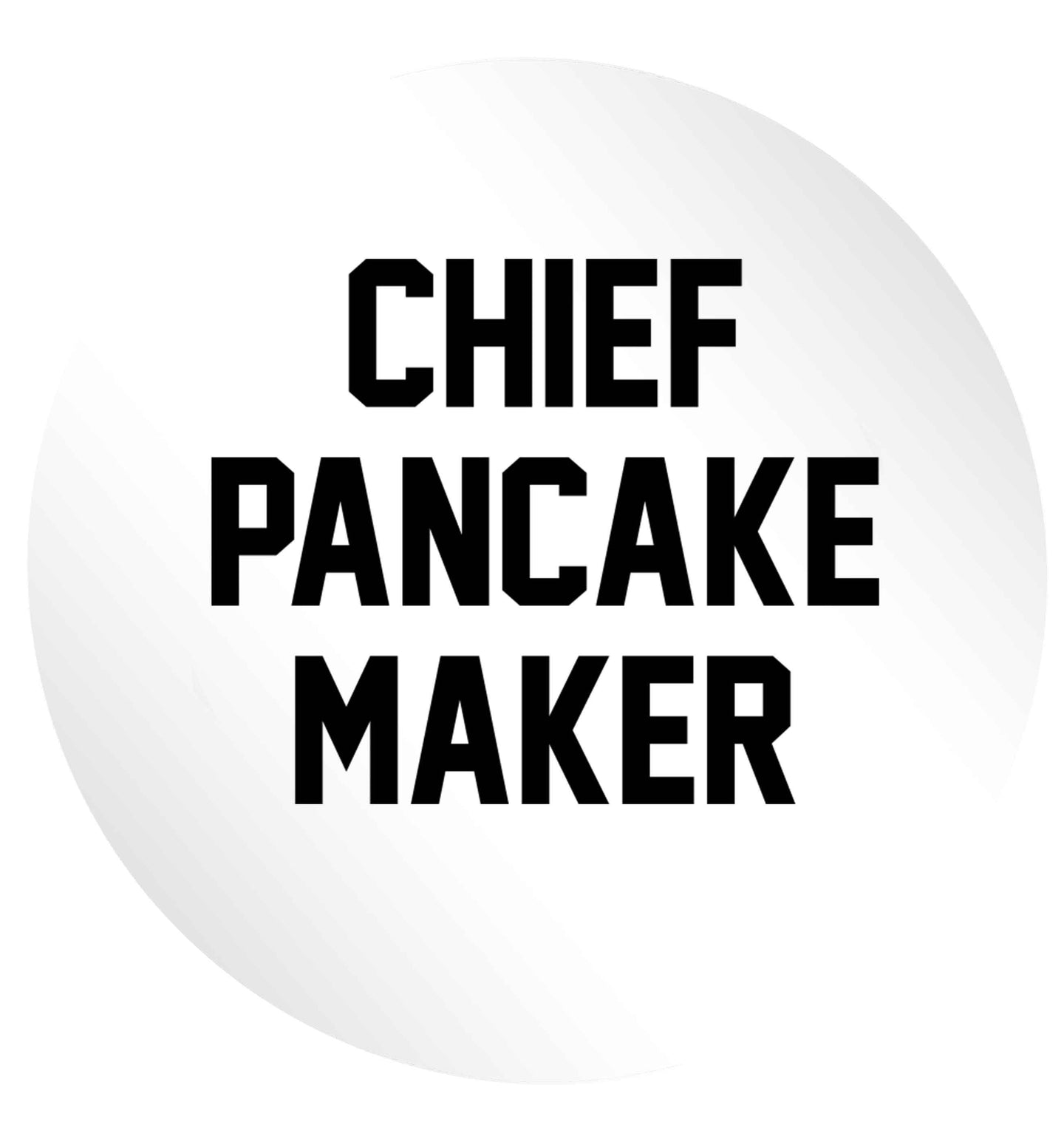 Chief pancake maker 24 @ 45mm matt circle stickers
