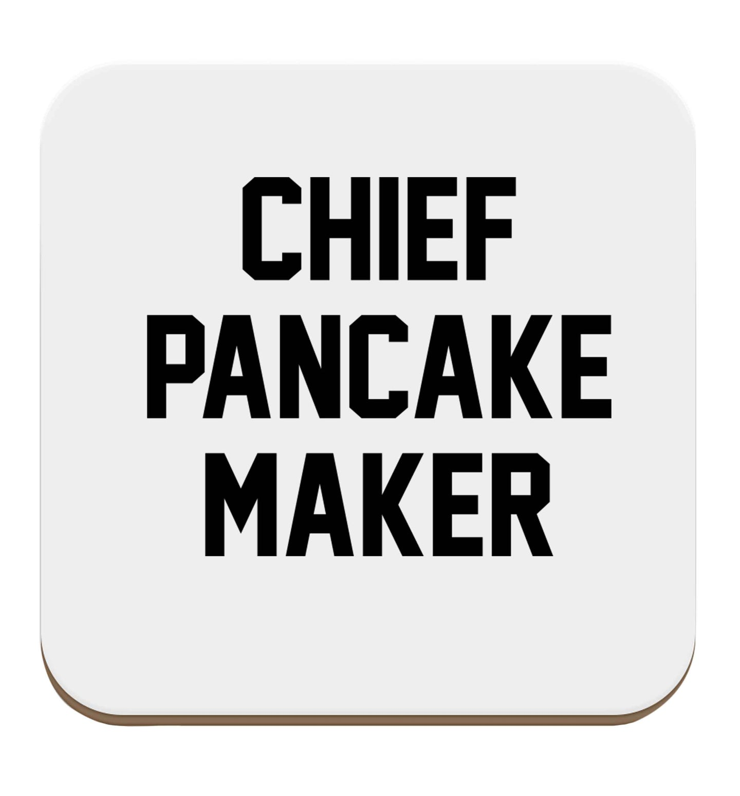 Chief pancake maker set of four coasters