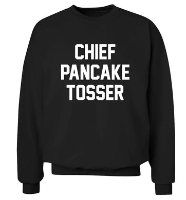Chief pancake tosser adult's unisex black sweater 2XL