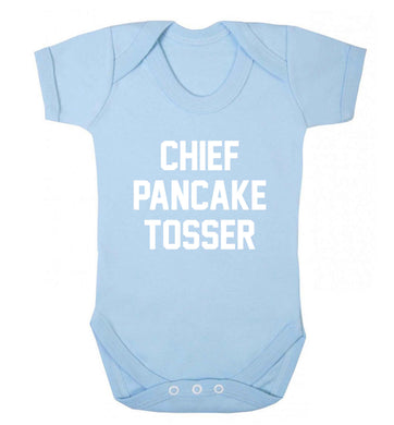 Happiness is pancakes baby vest pale blue 18-24 months