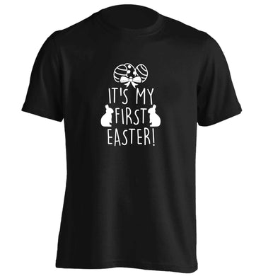 It's my first Easter adults unisex black Tshirt 2XL