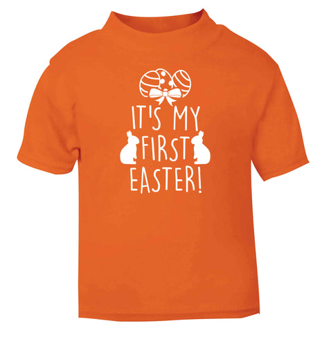 It's my first Easter orange baby toddler Tshirt 2 Years