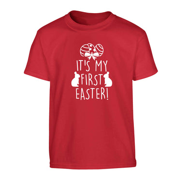 It's my first Easter Children's red Tshirt 12-13 Years